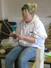 workshop run by Beryl Smith to make a leaping salmon from woven willow